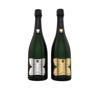 Lanceval World - 1X Luxus Brut Blanc de Blancs - 1X Luxus Blanc de Noirs - in Coffret