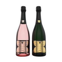 Lanceval World - 1X Luxus Brut Blanc de Blancs - 1X Luxus Brut Rosé - in Coffret