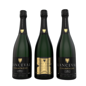 Lanceval World - 2X Premium Brut and 1X Luxus Brut Blanc de Blancs - in Coffret