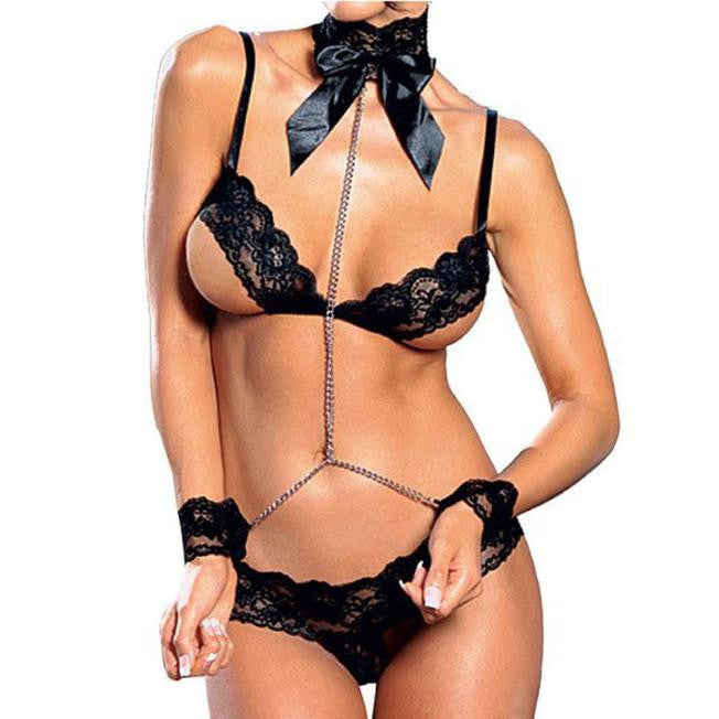 Sexy Lingerie Women's Dress Underwear Set Babydoll Sleepwear + G-string
