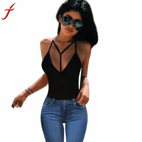 Women Sexy Black Harness Bra Crop Bustier Bralette Corset Tops Tank Top Cotton Bandage Blouse #LSN