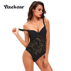 Yizekoar 2018 New Sexy Lingerie Hot One Piece Sexy Push up Lace Teddy Lingerie Vestido De Noiva Curto Night Ladies DL32058