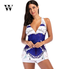 2018 New Summer Women Print Costumes Two Piece Swimsuits Swimwear Beach Suit Hot sale drop shipping Feb 1