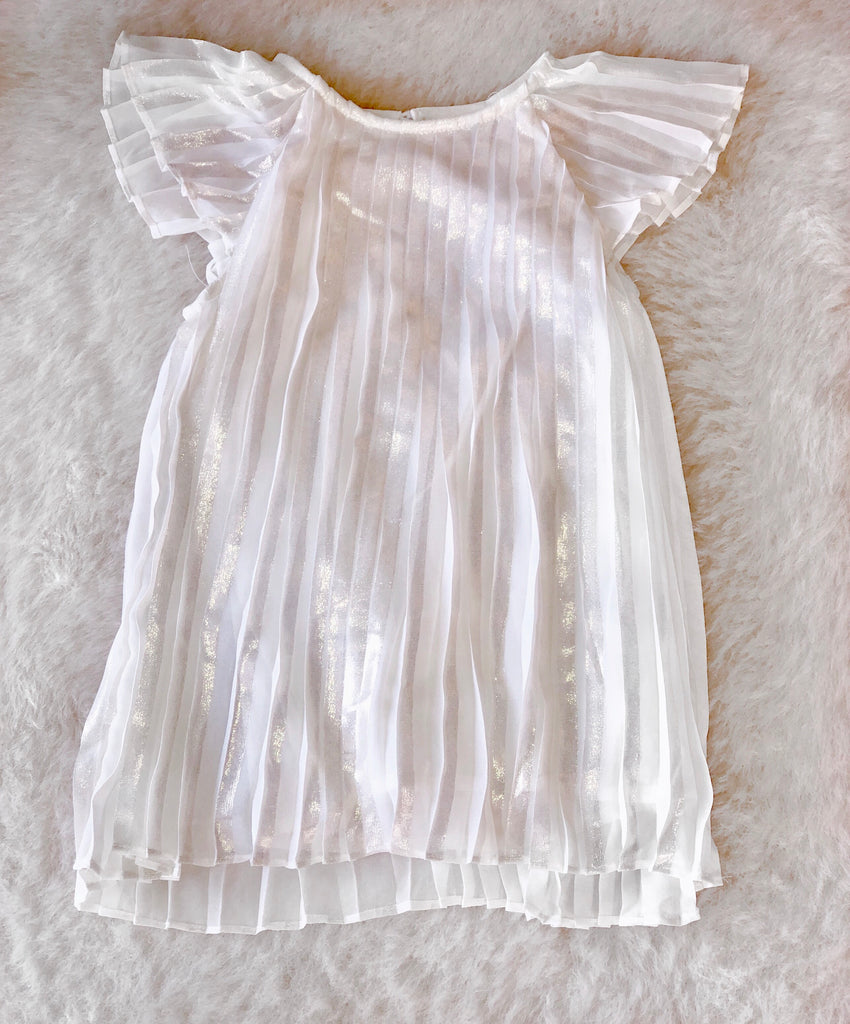 Toddler Gold Pleated Dress