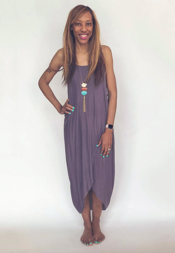 Rue- Maxi Dress w/ Side Slit