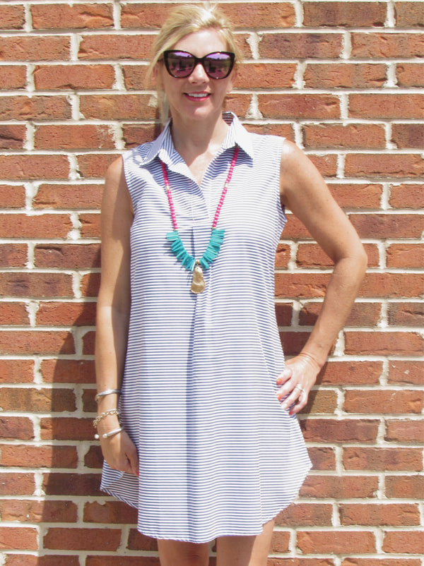 Sleeveless Popover Dress