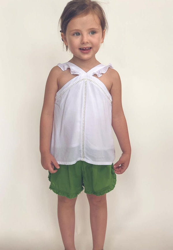 Toddler Ruffle Strap Top