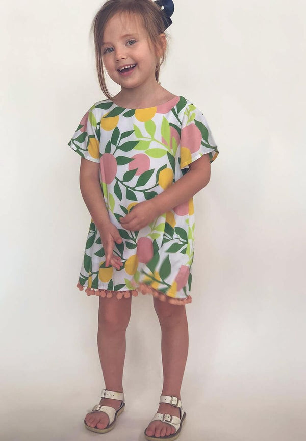 Toddler Short Sleeve Pom Dress
