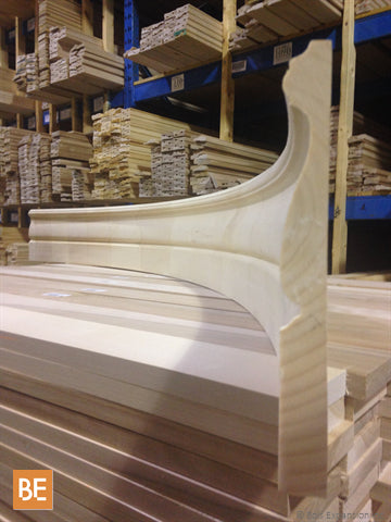 Plinthe anglaise cintrée 1217A en pin blanc jointé - Curved english baseboard 1217A in jointed white pine