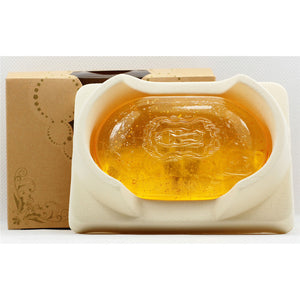 24K Gold Crystal Handmade Soap With Whitening, Oil-control, Anti-aging, Pores Reduction, Anti-wrinkle - 101 Soaps