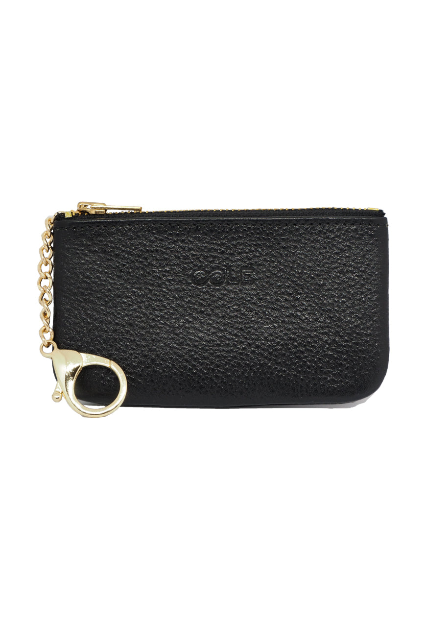 'Simone' Card & Coin Purse - Black