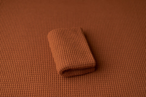 Rust Textured Knit