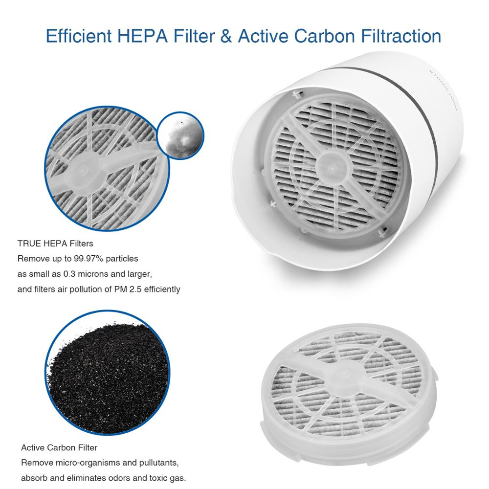 Air Purifier Air Cleaner HEPA Filters 5v USB cable Low Noise Air Purifier with Night Light - Inspired Uplift Store