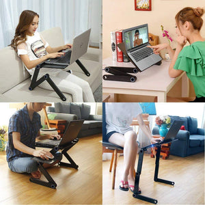 Two Fan Laptop Desk Portable Adjustable Foldable Table - Inspired Uplift Store