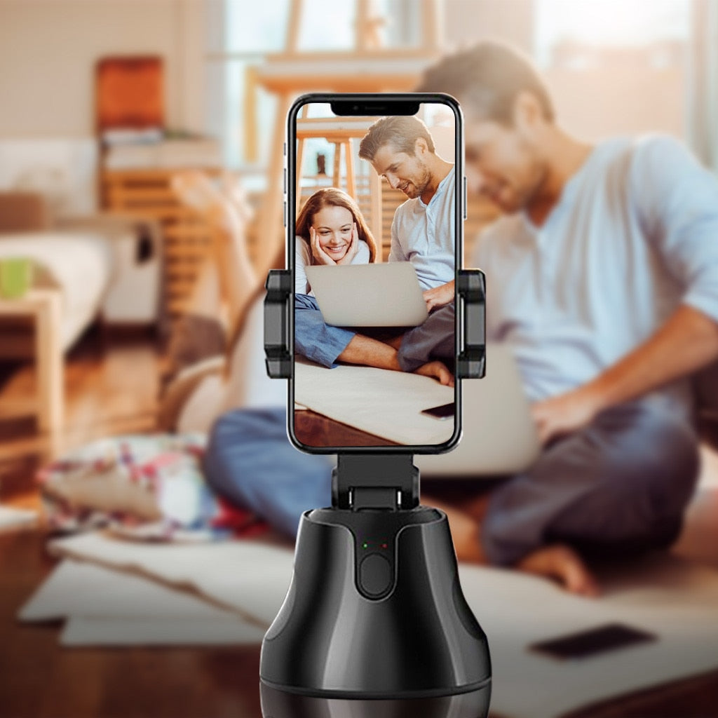 360° Selfie Phone Holder Auto Face Tracking - Inspired Uplift Store
