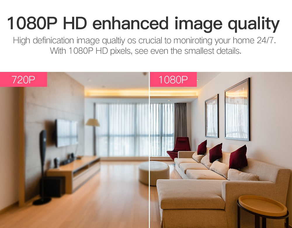 1080P security camera with 355 degree rotation - Inspired Uplift Store
