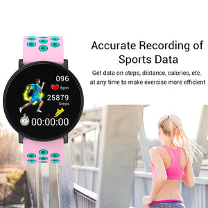 Unisex Smart Watch For Android IOS Blood Pressure Heart Rate Tracker - Inspired Uplift Store