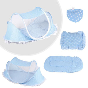 Baby Crib Bed With Mattress Pillow Set - Inspired Uplift Store
