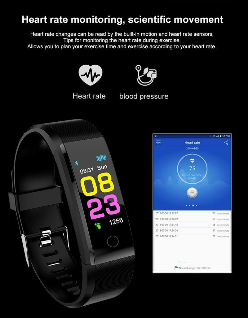 Smart Watch and Blood Pressure Monitor for Men Women Fitness Tracker - Inspired Uplift Store