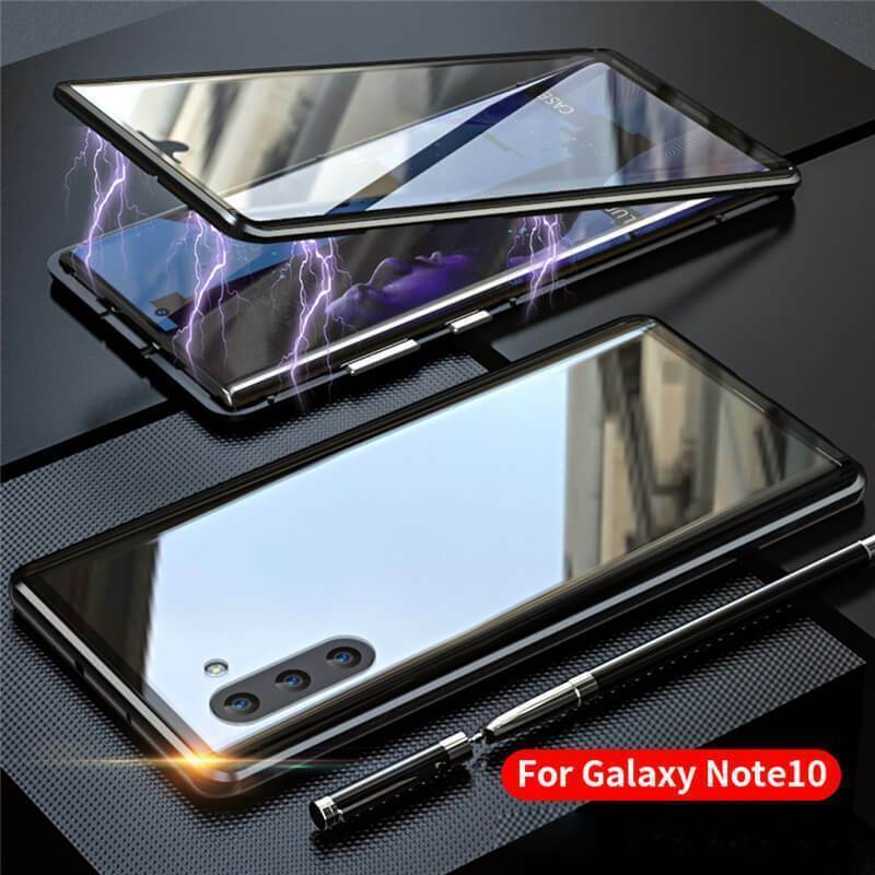 360° Magnetic Case For Samsung S10 Plus S9 Note 10 + Double Sided Tempered Glass - Inspired Uplift Store