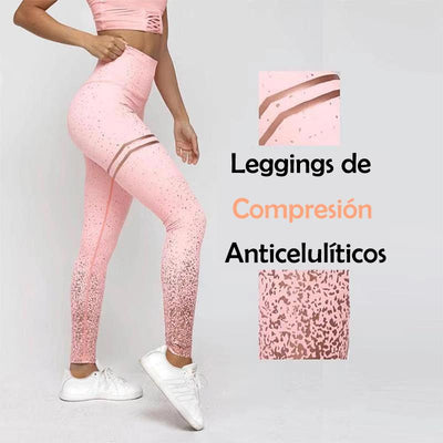 Leggings De Compresión Anticelulíticos Sin Costuras