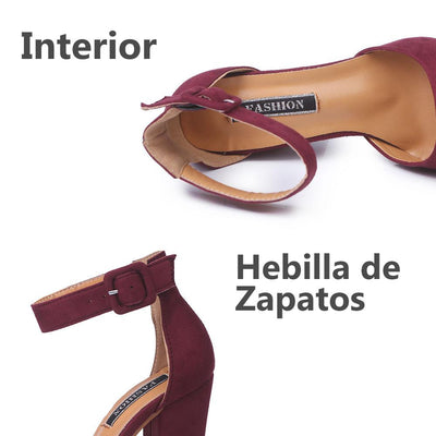 Zapatos con Hebillas de Tacones Altos
