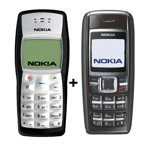 Nokia 1100 + Nokia 1600(with 6 months warranty) ( Refurbished )
