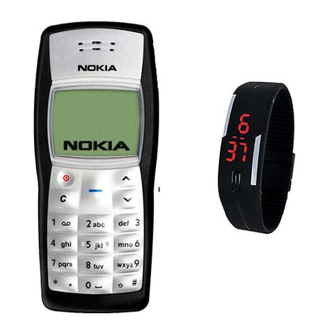 Nokia 1100 + LED Watch(with 6 months warranty) ( Refurbished )