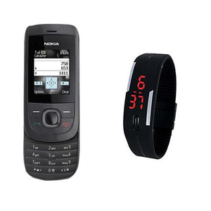 Nokia 2220 + LED Watch(with 6 months warranty) ( Refurbished )