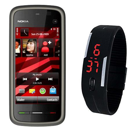 Nokia 5233 + LED Watch(with 6 months warranty) ( Refurbished )