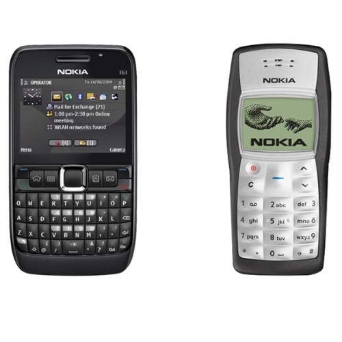 Nokia E63 + Nokia 1100(with 6 months warranty) ( Refurbished )