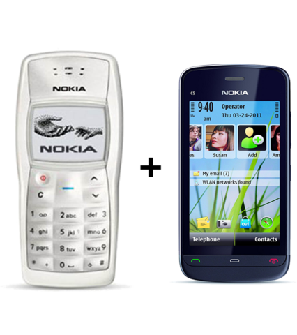 Nokia C-503 + Nokia 1100  (with 6 month warranty) ( Refurbished )