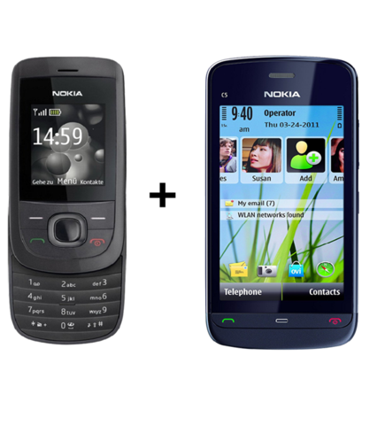 Nokia 2220 + Nokia C503 (with 6 month warranty) ( Refurbished )