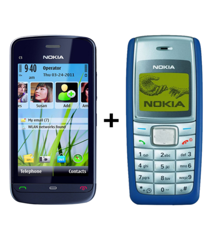 Nokia C-503 + Nokia 1110i(with 6 months warranty) ( Refurbished )