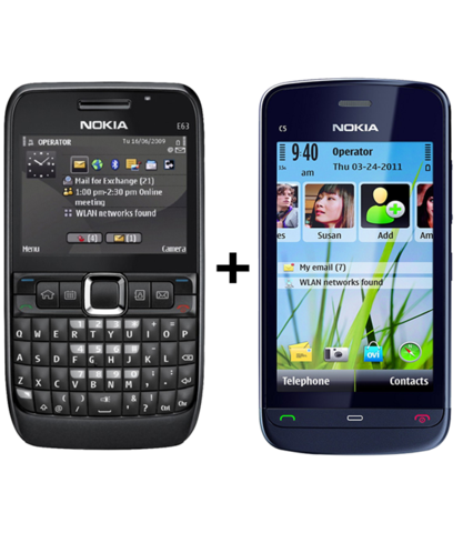 Nokia E63 +Nokia C503  (6 month warranty ) ( Refurbished )