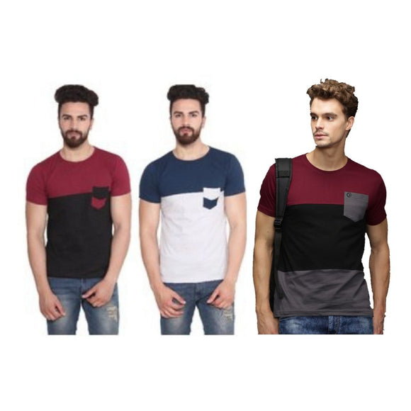 Pack of 3  T- Shirt  Short Sleeve