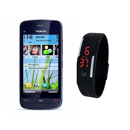 Nokia C-503 + LED Watch(with 6 months warranty) ( Refurbished )