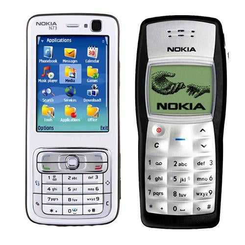 Nokia N73 + Nokia 1100(with 6 months warranty) ( Refurbished )