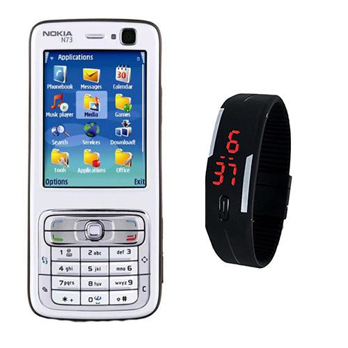 Nokia N73 + LED Watch(with 6 months warranty) ( Refurbished )