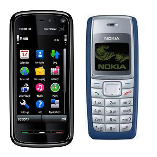 Nokia 5800 + Nokia 1110i(with 6 months warranty) ( Refurbished )