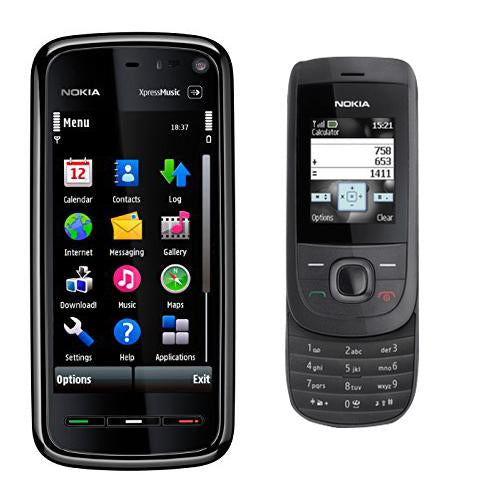 Nokia 5800 + Nokia 2220 (6 month warranty ) ( Refurbished )
