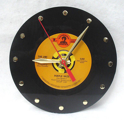 Clock made w/a JIMI HENDRIX Record / Purple Haze