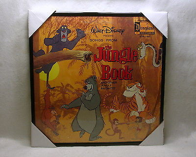 JUNGLE BOOK Framed Album Cover Walt Disney's Songs