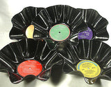 CHRISTMAS MUSIC Set Of 5 - Recycled Record Bowls Holiday Season Music Pack