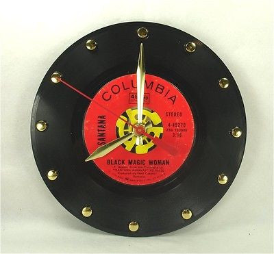 Clock made w/a SANTANA Record / Black Magic Woman