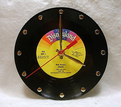 "Recycled 7"" Record Clock"