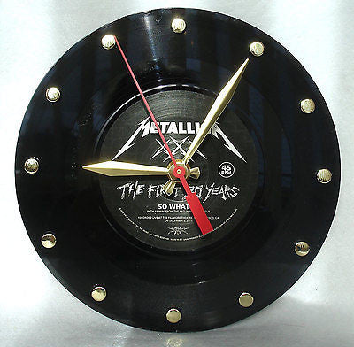 Clock made w/a METALLICA Record / So What - The First Thirty Years
