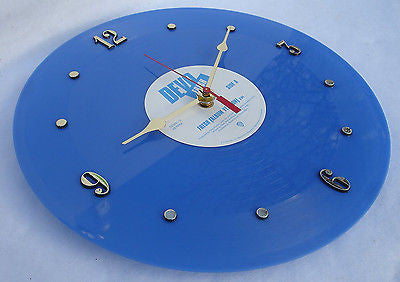 Clock made w/a DEVO Record / Fresh / Blue Vinyl