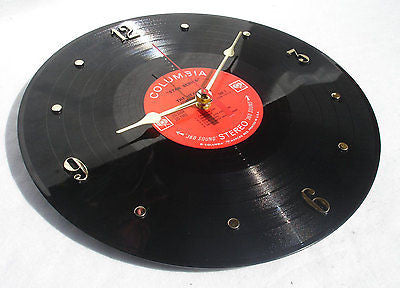 Clock made w/a JOHNNY CASH Record / The Heart Of Johnny Cash