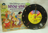 Clock made w/a WALT DISNEY Record / SNOW WHITE / with Story Book